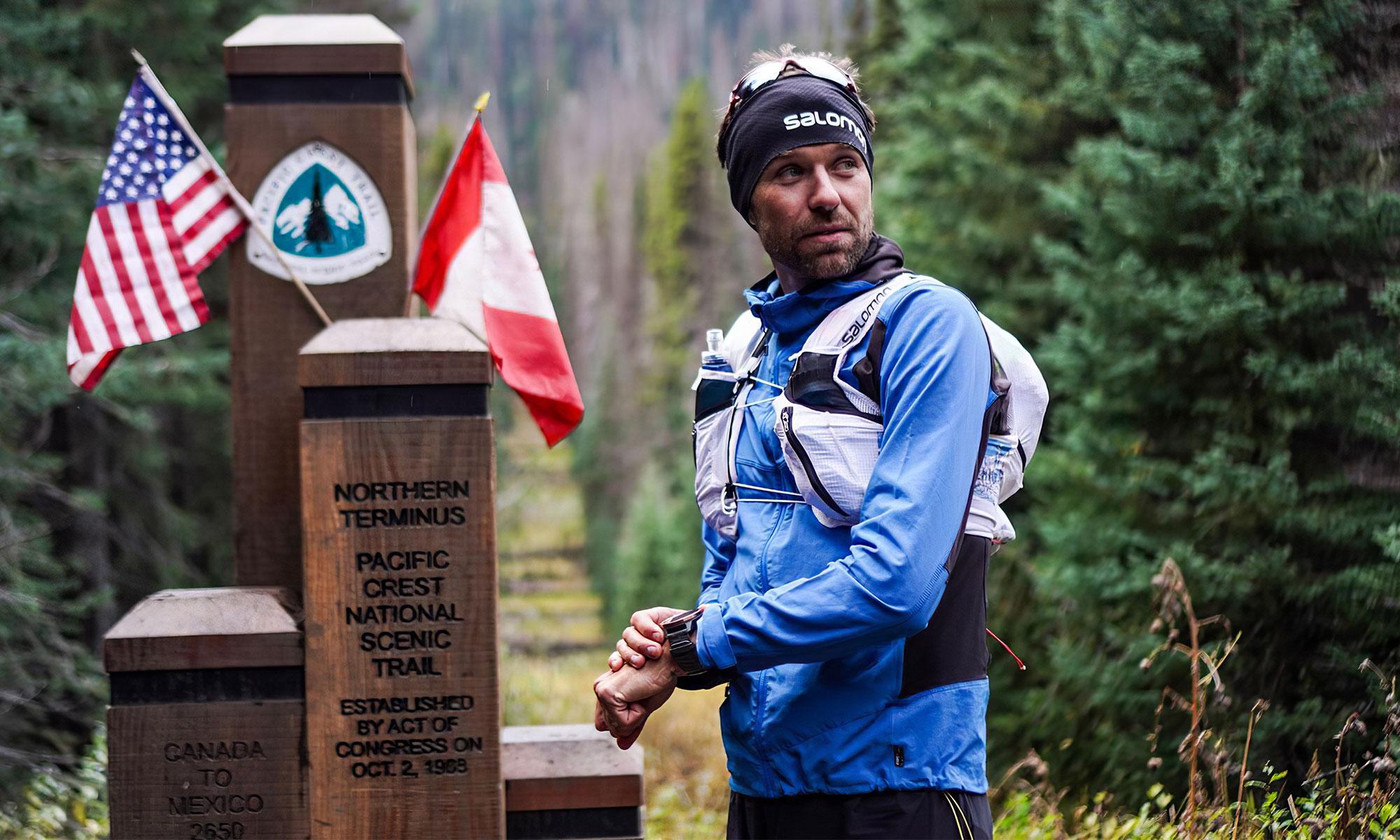 François d'Haene au départ du Pacific Crest Trail