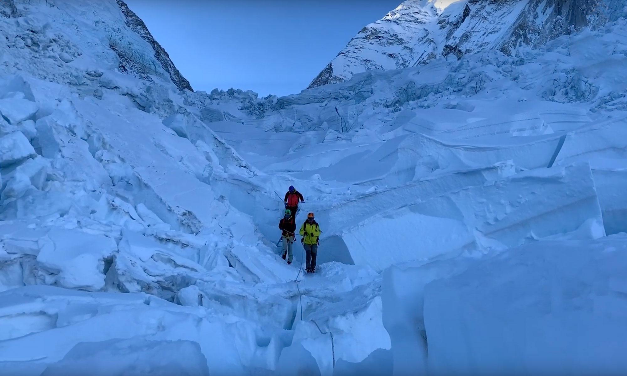 Cascade de glace du Khumbu