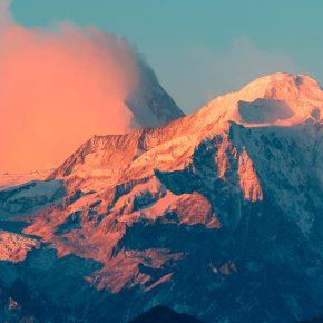 Montagne au couché du soleil