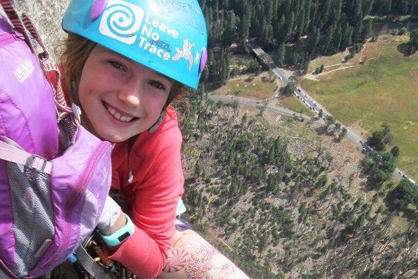 Pearl Johnson, 9 ans, plus jeune grimpeur a faire El Capitan