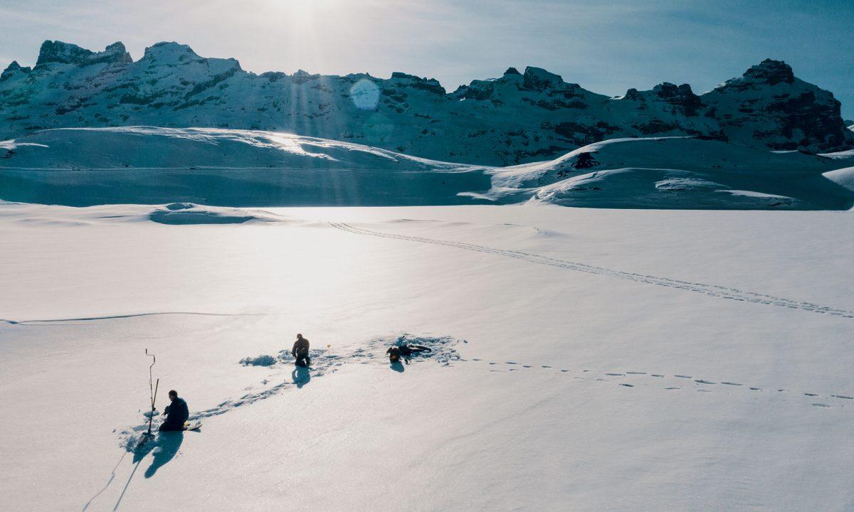Suisse, pêche sur glace