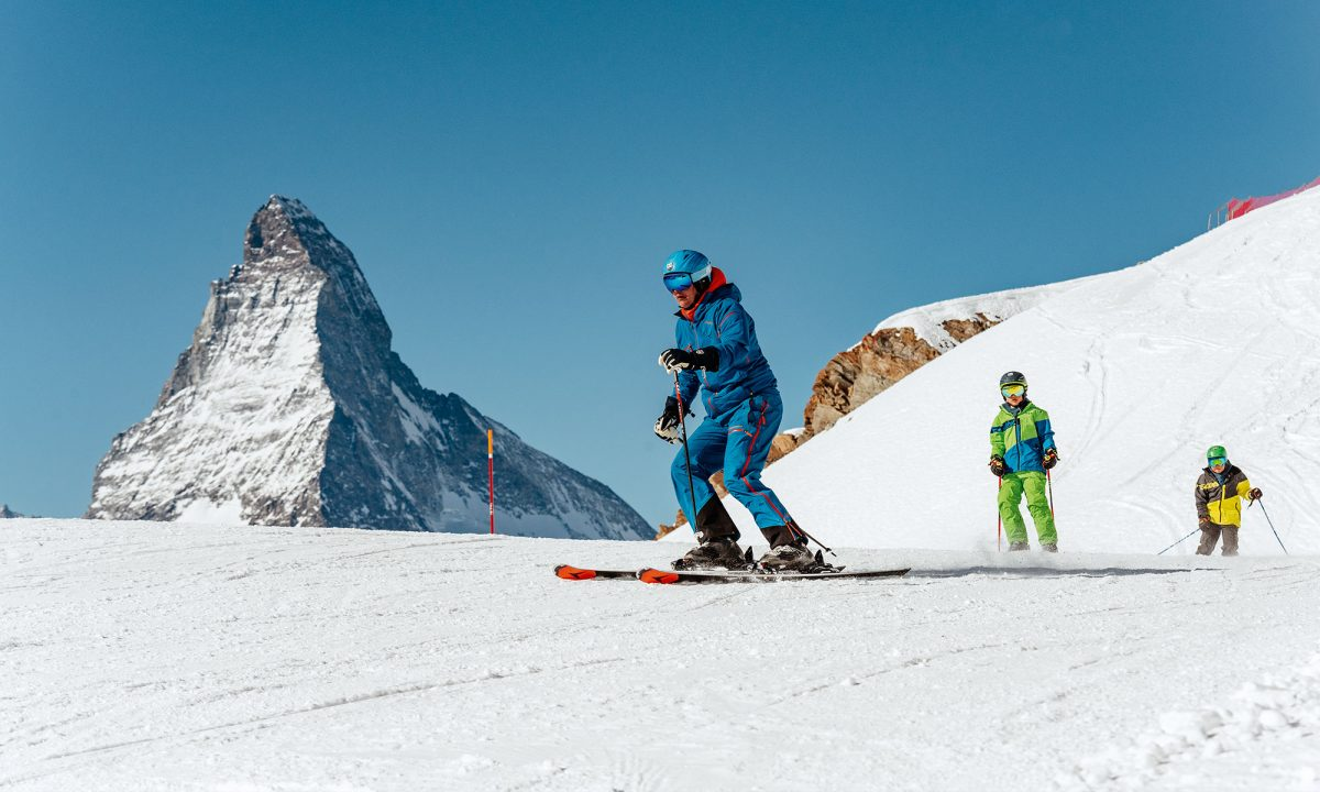 Suisse, ski de piste à Zermatt