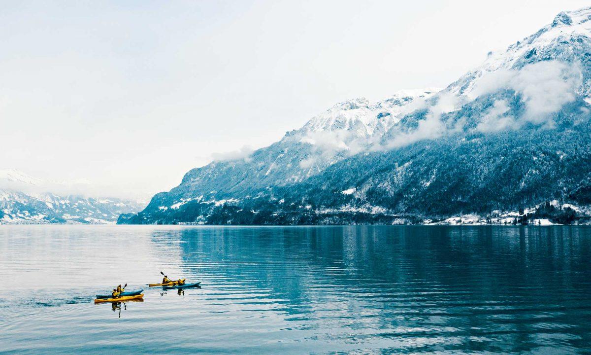 Suisse, kayak