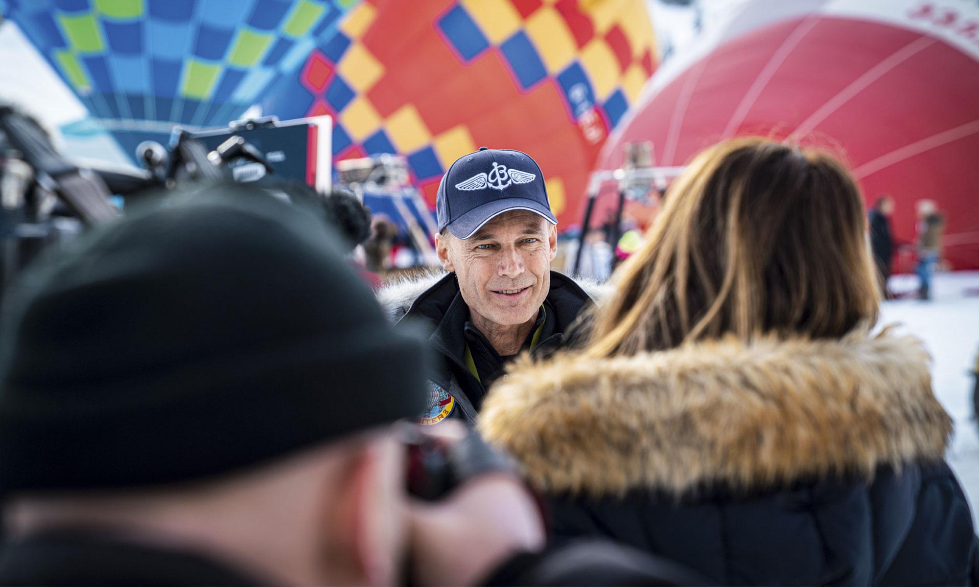 Bertrand Piccard au Festival International de Ballons de Chateau d'Oex