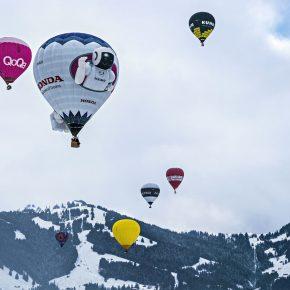Vol en ballon au dessus de Chateau d'Oex