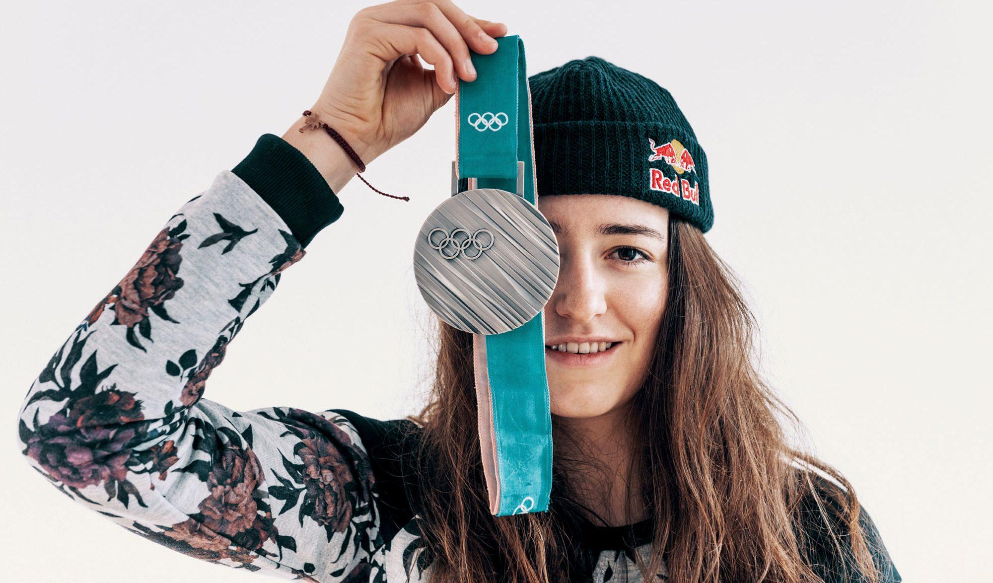 Mathilde Gremaud et sa médaille Olympique