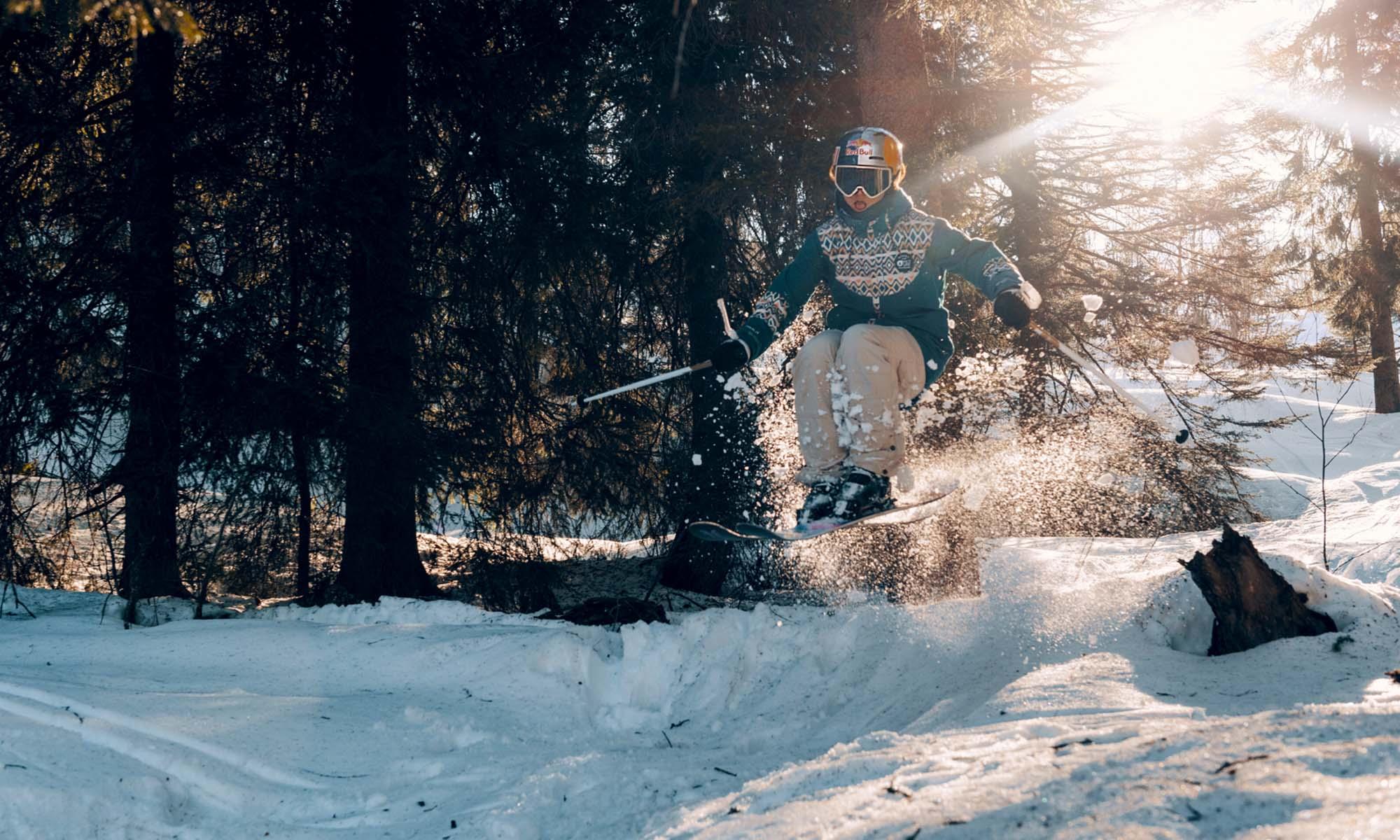 Mathilde Gremaud en ski à La Berra