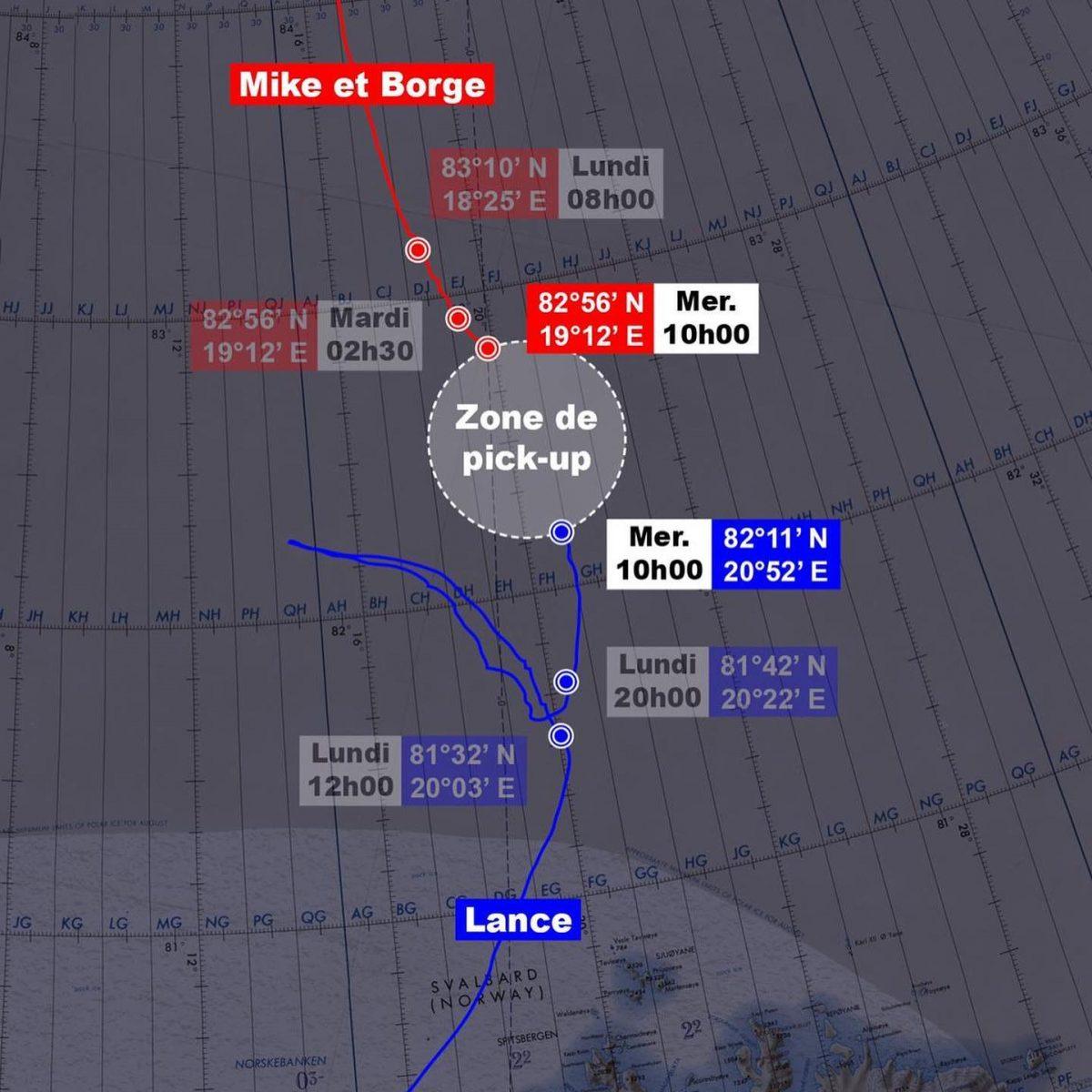 Zone de pick-up de l'expedition Pole 2 Pole