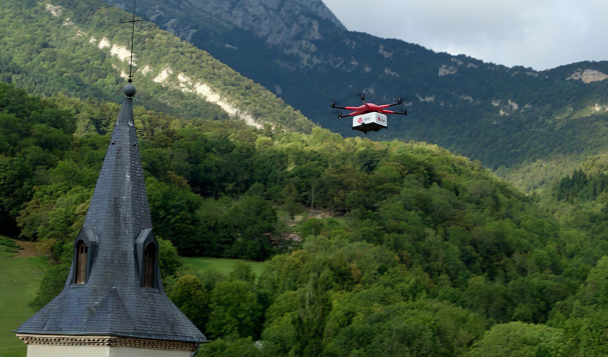 Drone DPD livraison
