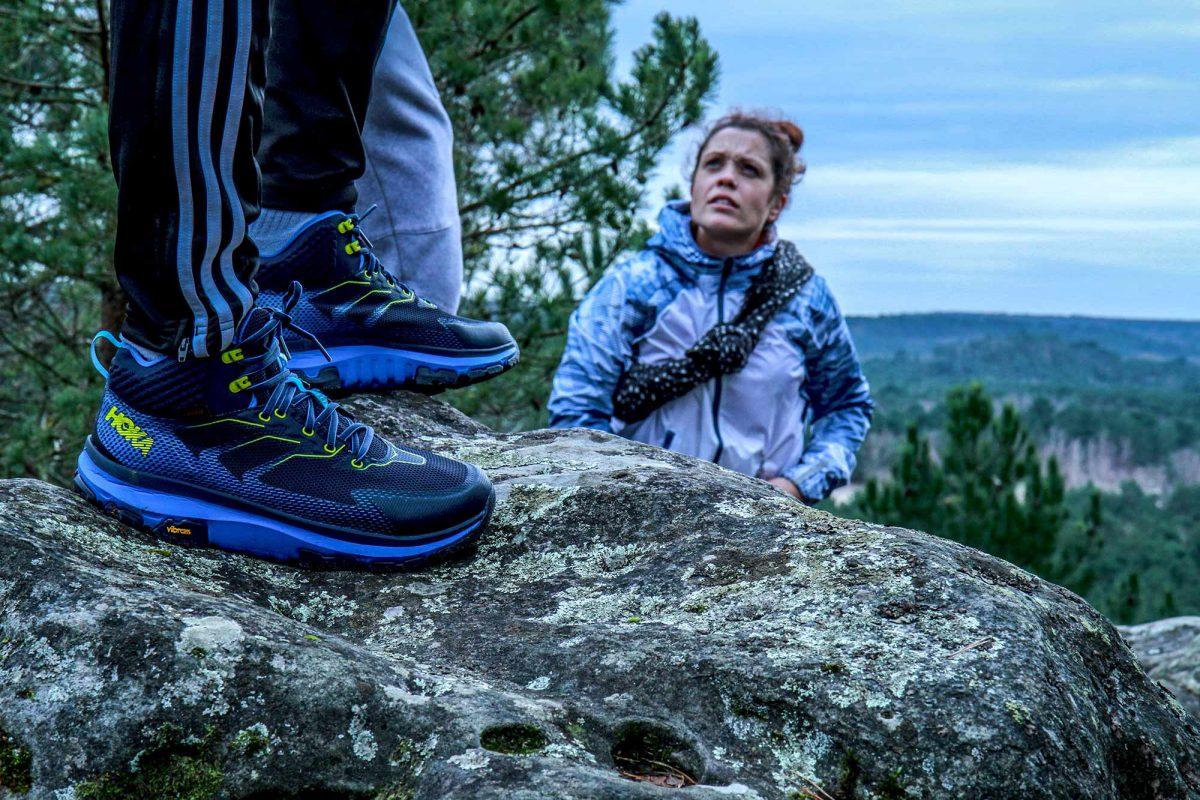 Les jeunes de l'association APART dans la forêt de Fontainebleau