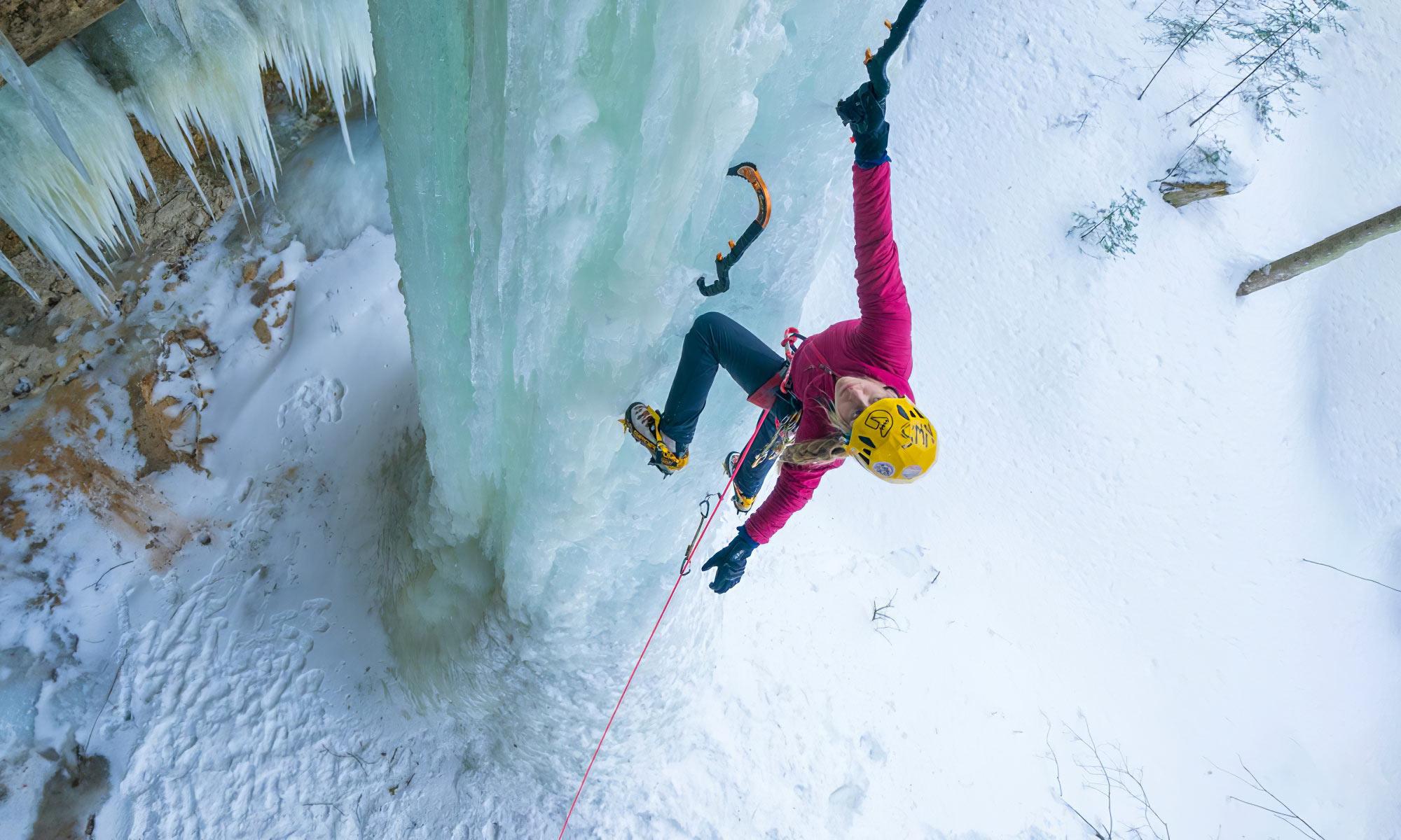 Escalade sur glace