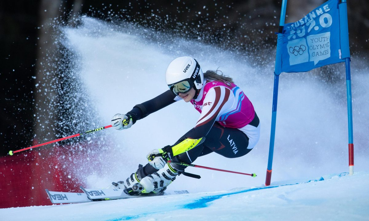Skieuse Dzenifera Germane (LAT) sur le slalom géant