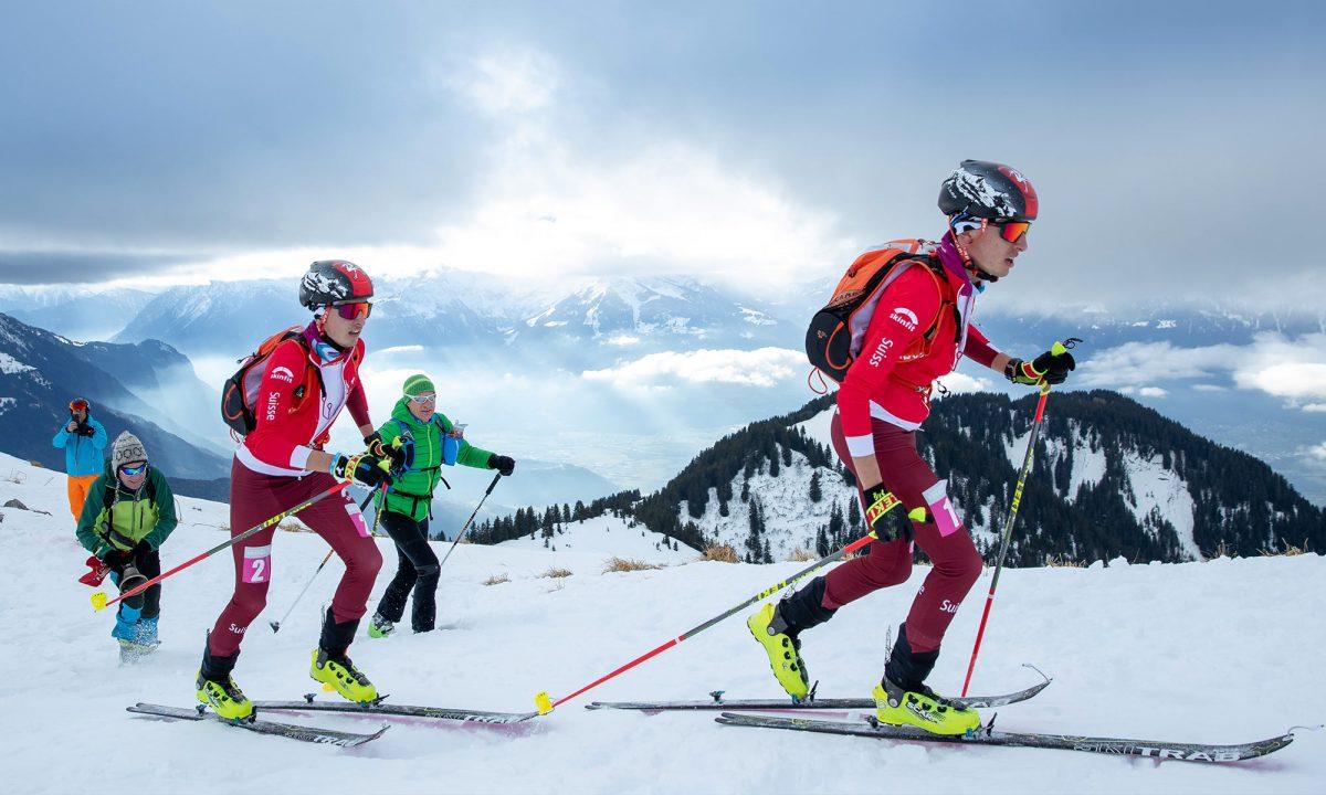 Les skieurs suisses Thomas Bussard et son frère Robin (Ben-Queenborough)