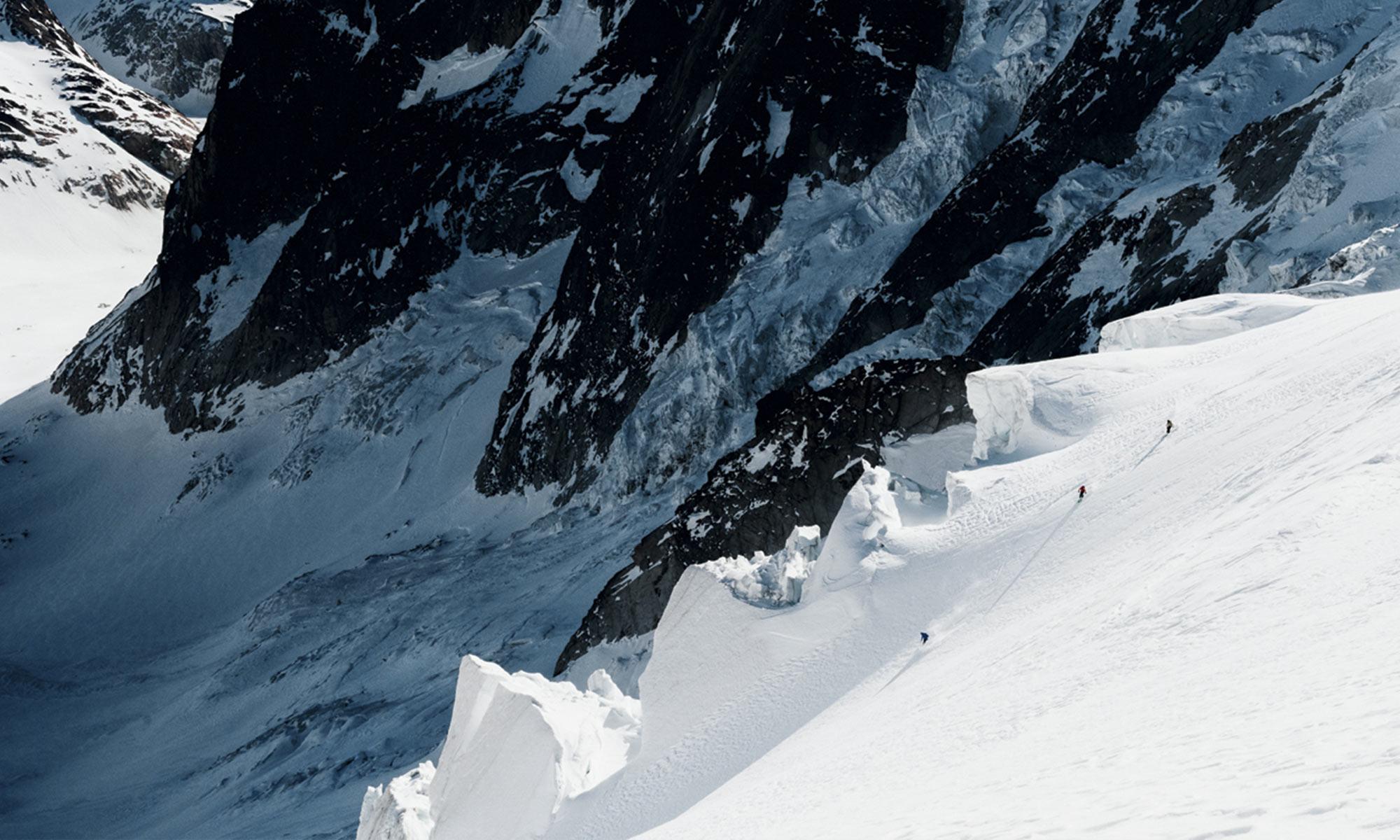 ski hors-piste dans le valais