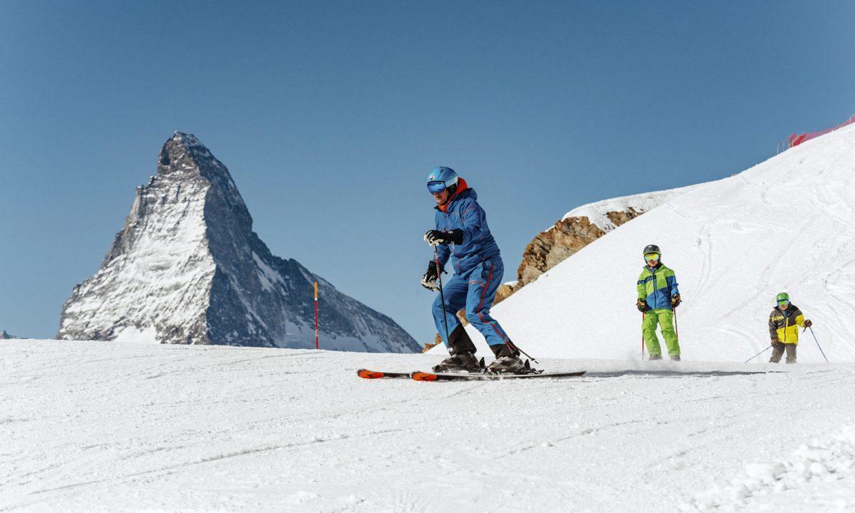 Paul-Marc Julen et ses garçons sur les pistes de Zermatt