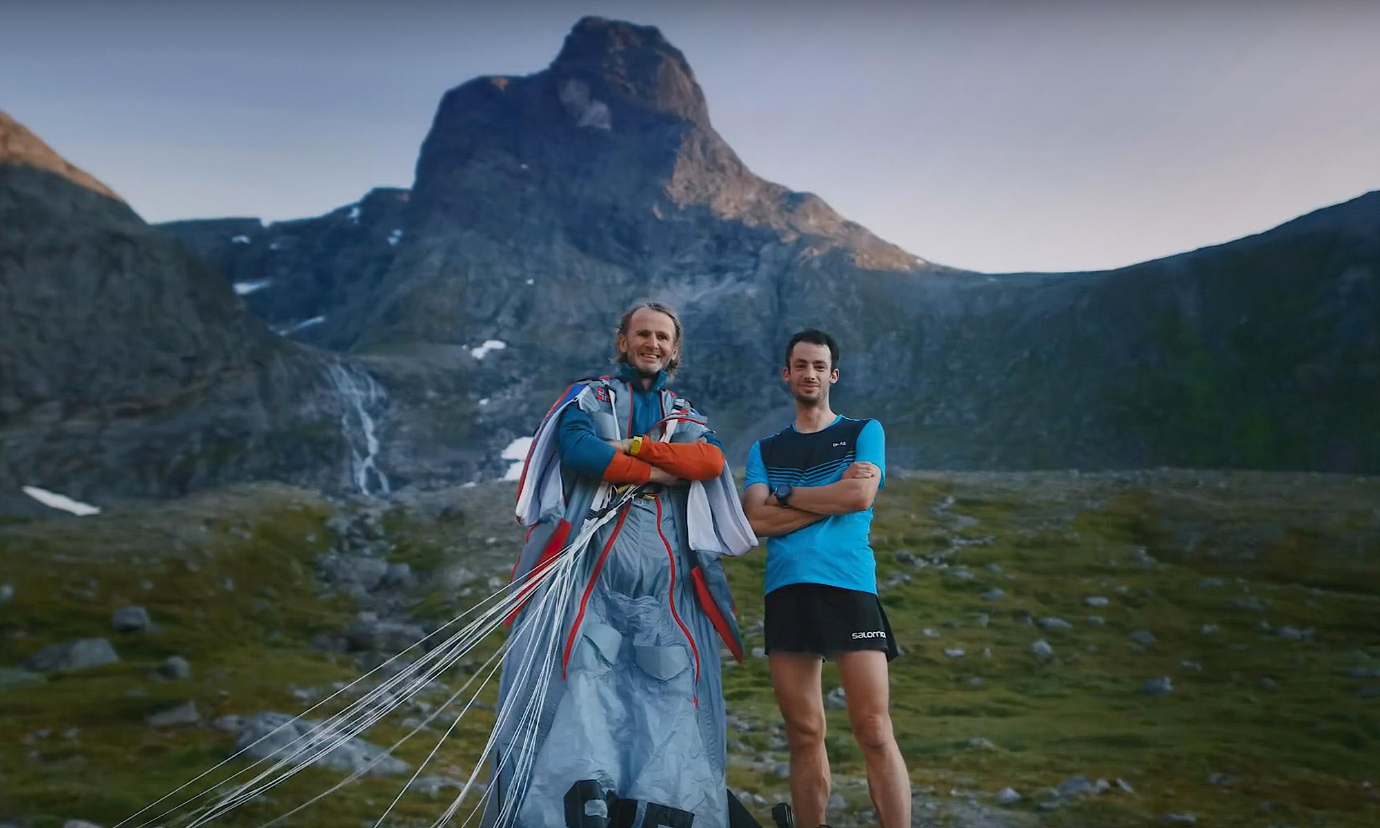Kilian Jornet et Tom Erik Heimen, romsdalshorn challenge