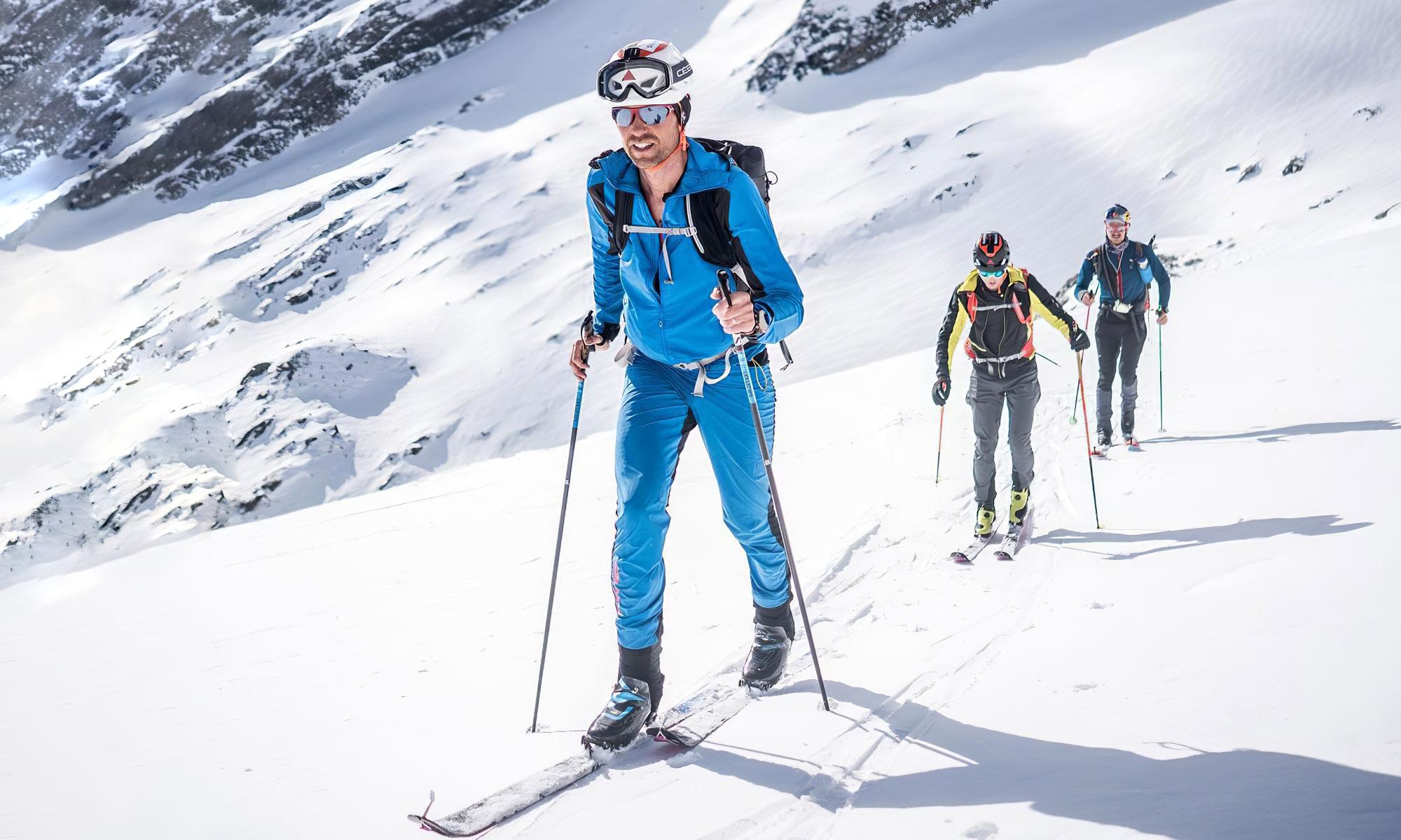 François D'haene et Philipp Reiter à ski sur la Hoch Tirol.