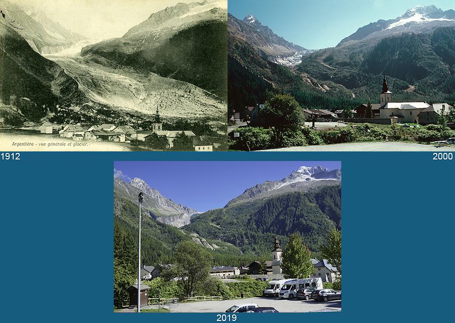 Glacier d'Argentière, massif du Mont-Blanc