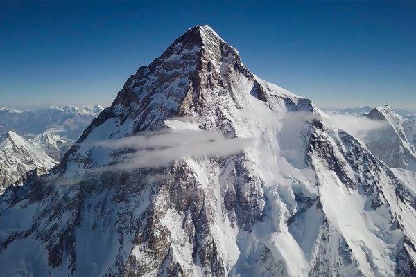 Prise de vue du K2 par un drone