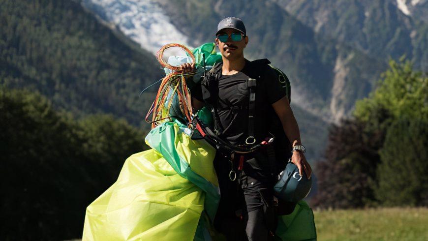 Nims Dai en parapente à Chamonix