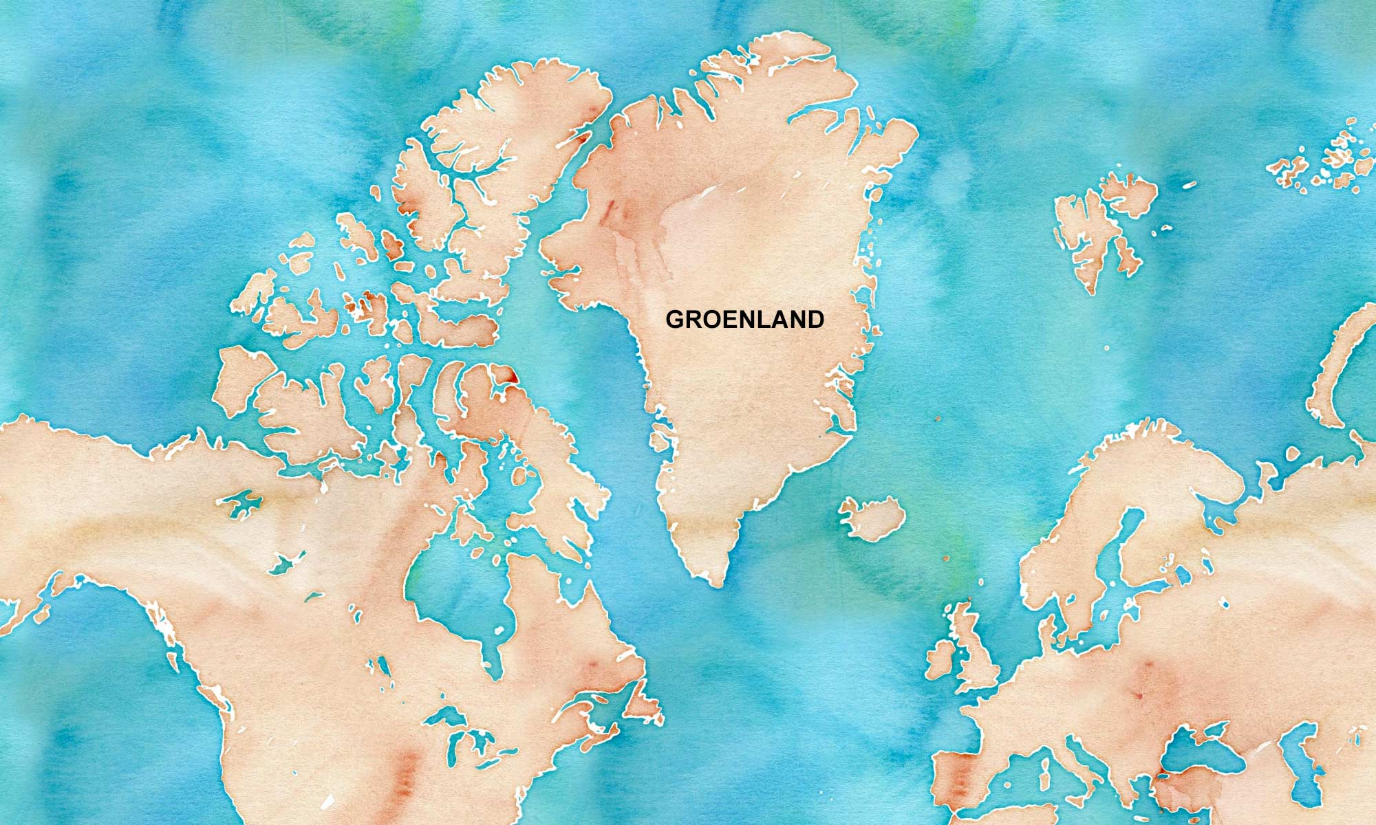 Carte du Groenland