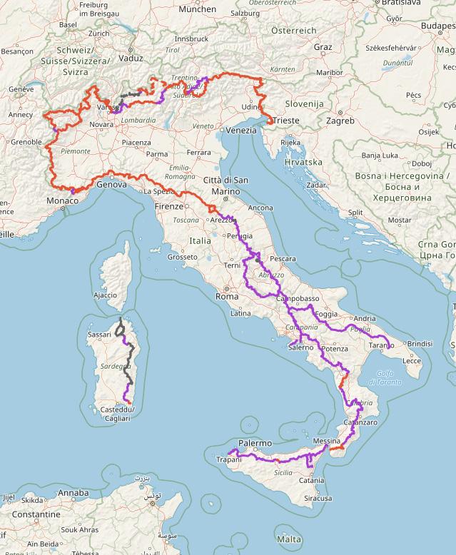 Carte Sentiero Italia