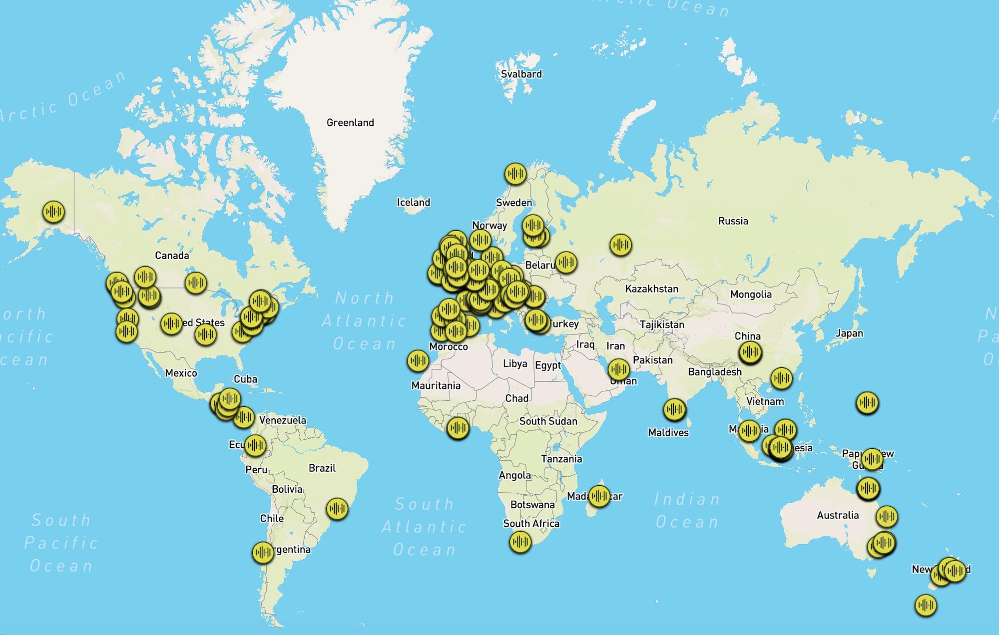 Participez A La Carte Interactive Collectant Les Sons De Forets Du Monde Entier Outside Le Magazine Des Amoureux De Sports Et Culture Outdoor