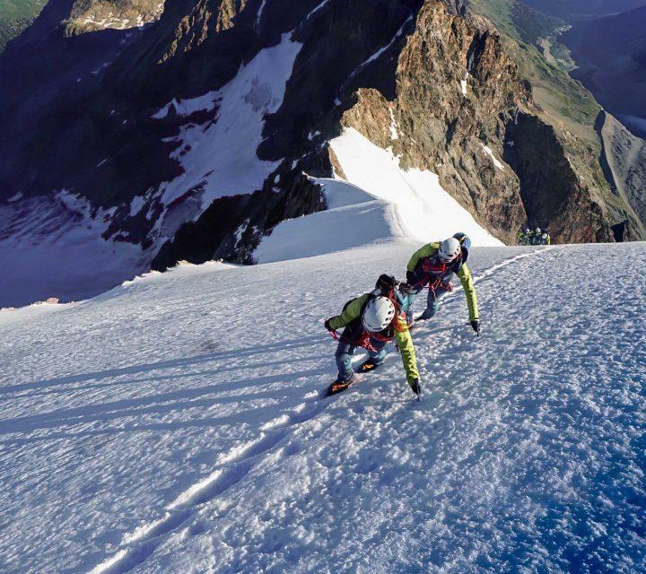 Femmes alpinsites du GFHM dans le massif de Bernina