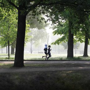 Running dans un parc