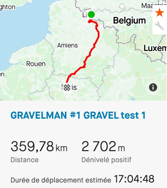 GravelMan tracé Gravel