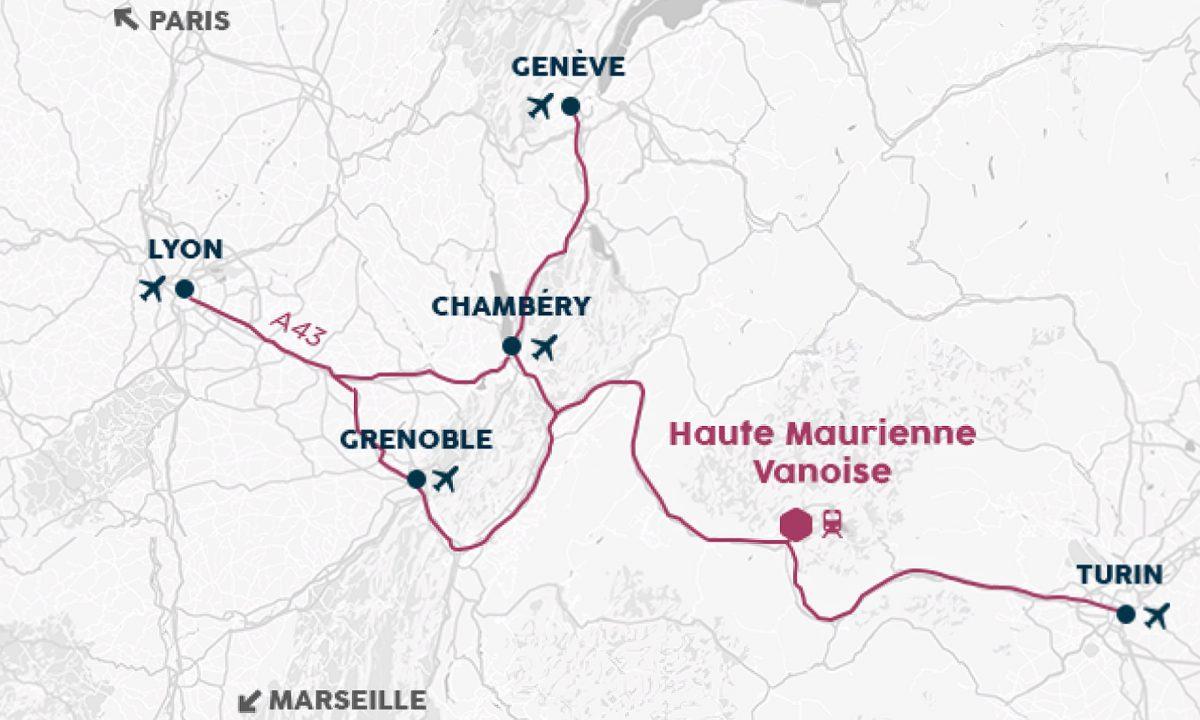 Haute-Maurienne Vanoise : carte