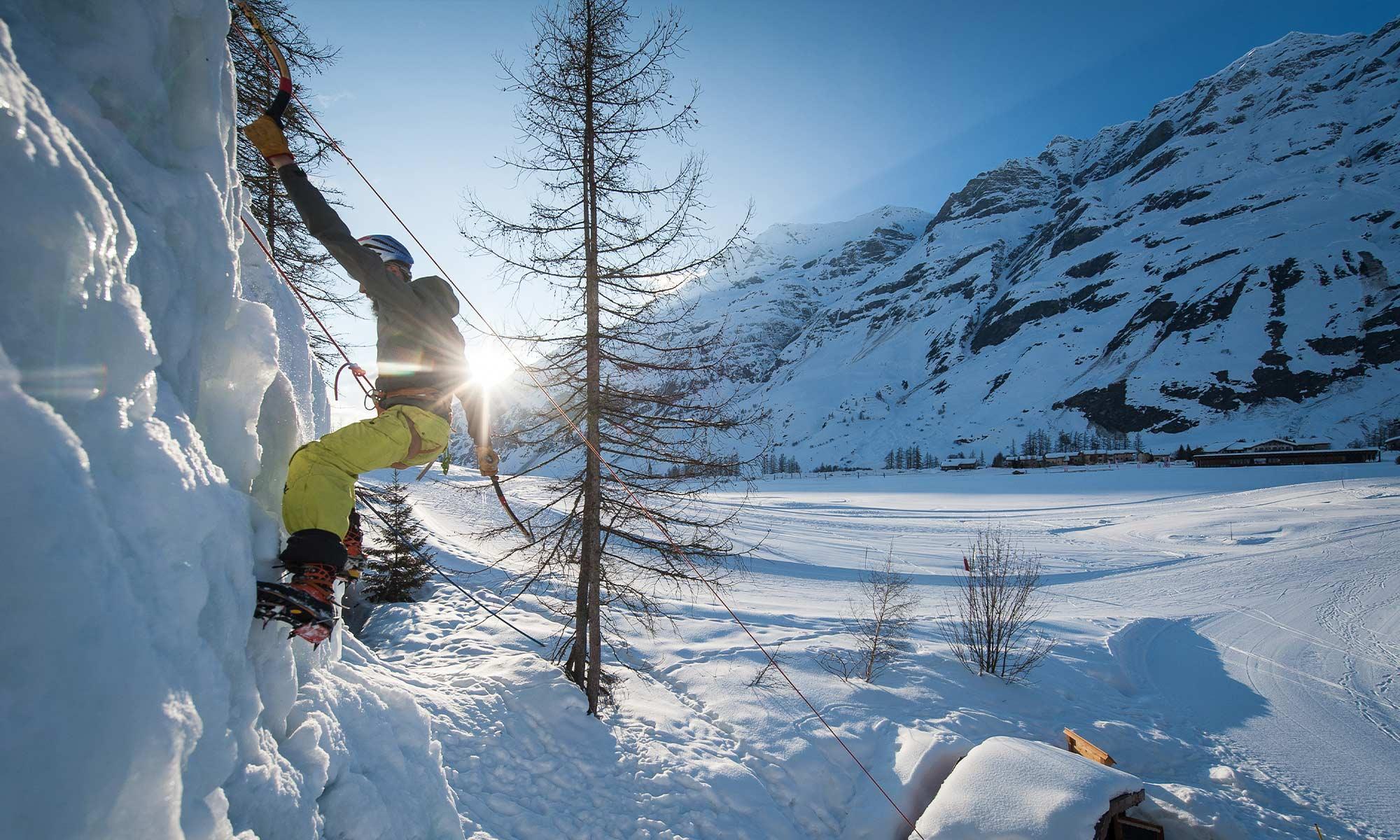 Haute-Maurienne Vanoise : cascade de glace