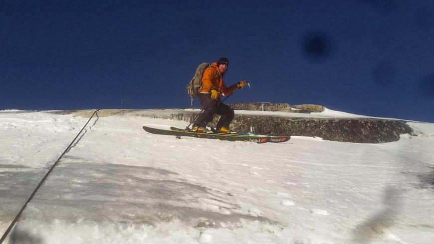 Ski de pente raide au Half Dome, Yosemite