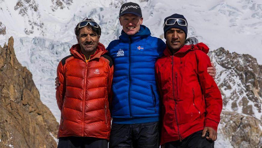 Muhammad Ali Sadpara, John Snorri & Sajid Sadpara (Facebook)