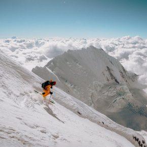 Hilaree Nelson lors de son expédition au Lhotse Couloir en 2018