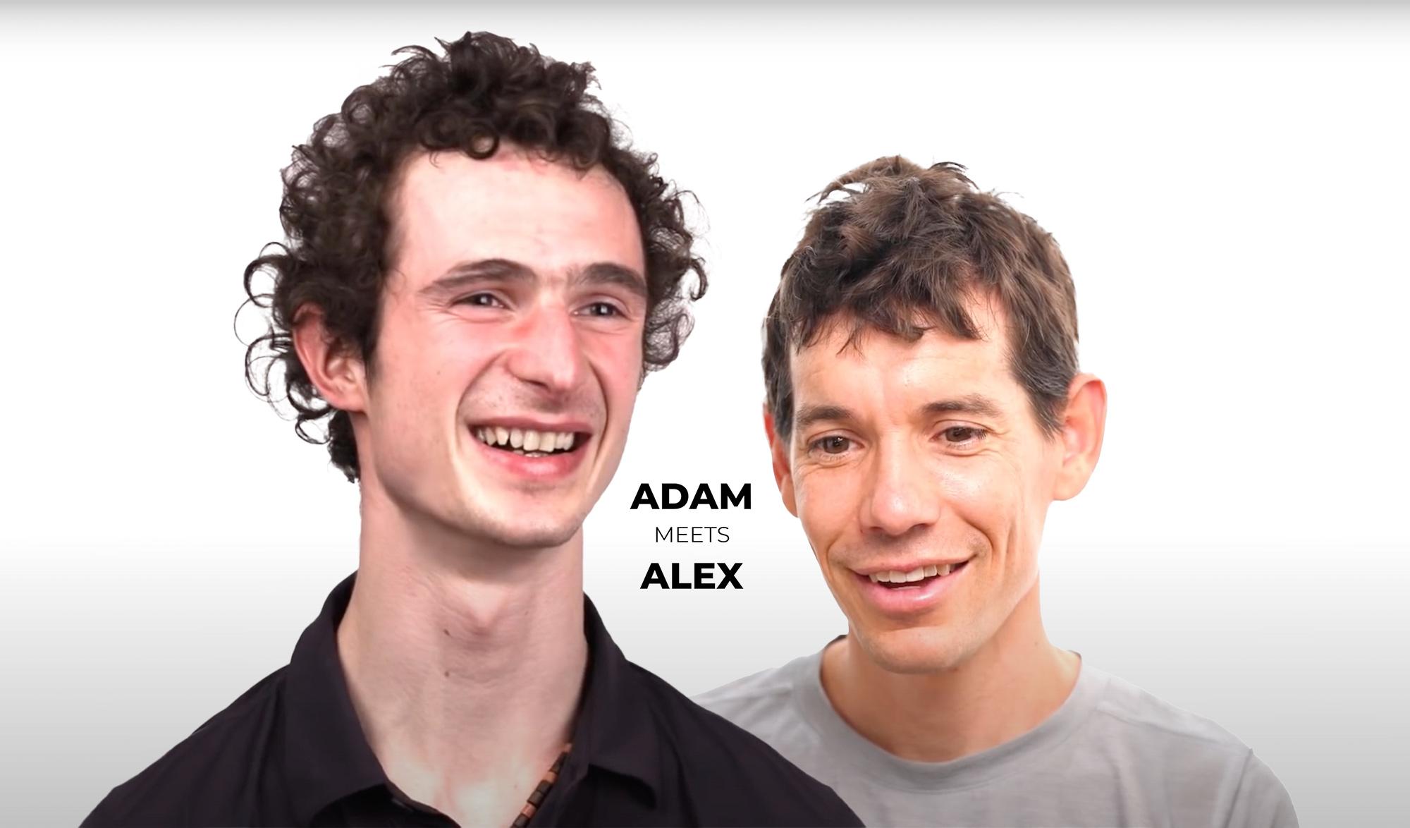 Adam Ondra rencontre Alex Honnold