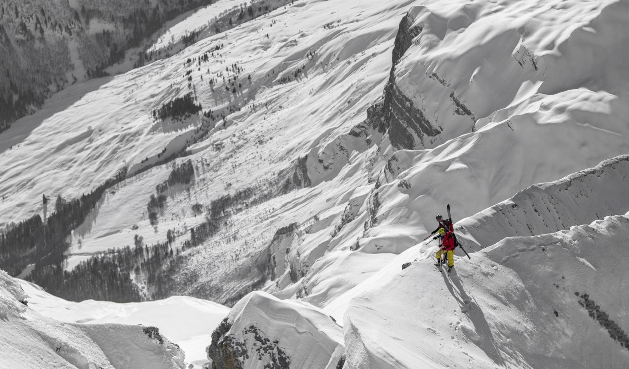 Ski de Pente Raide avec Pierre Tardive et Charles Dubouloz
