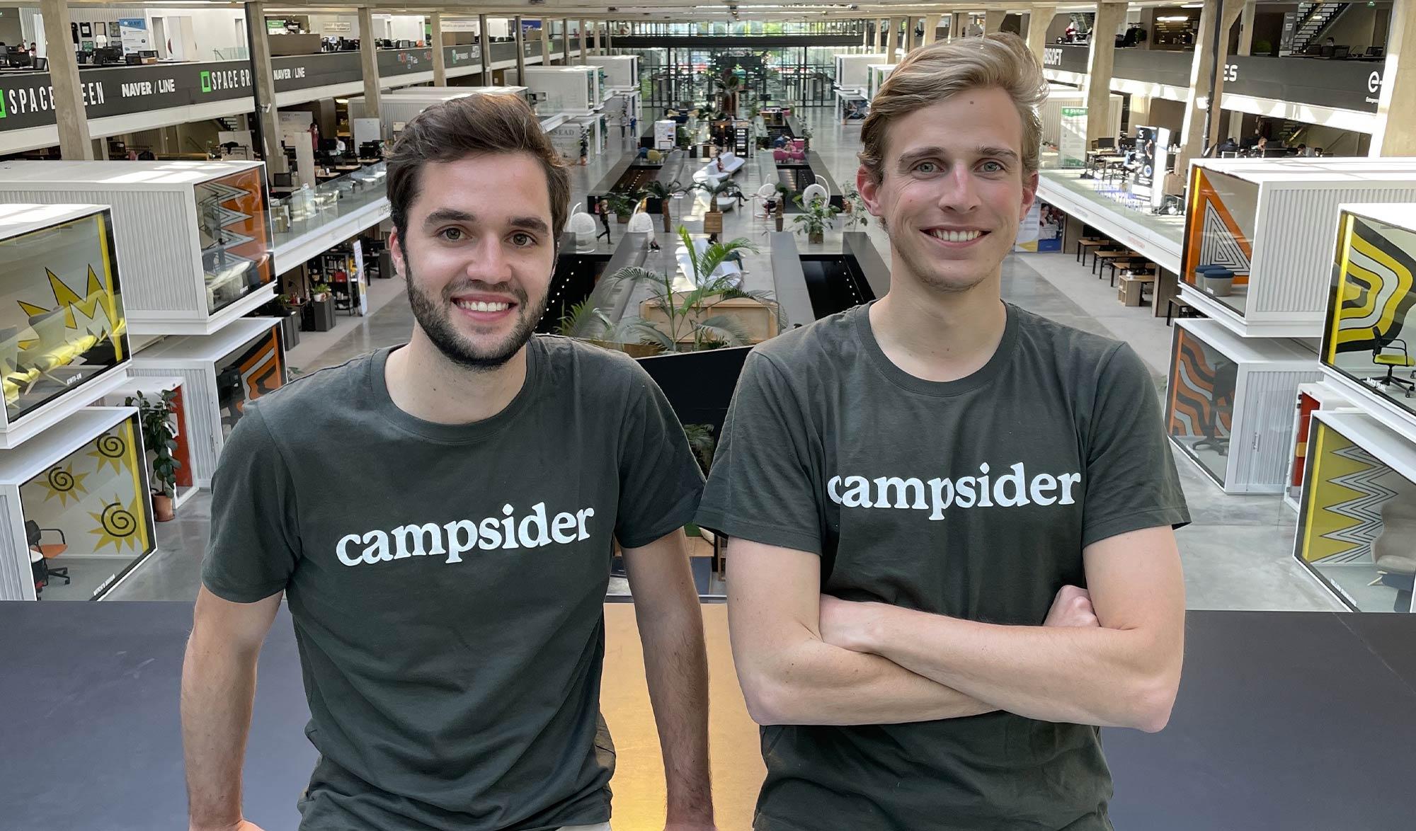 Arthur Rocle et Thomas Gounot les deux fondateurs de Campsider