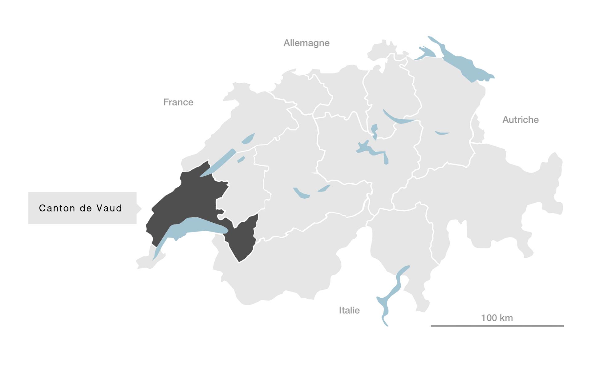 carte Canton de Vaud