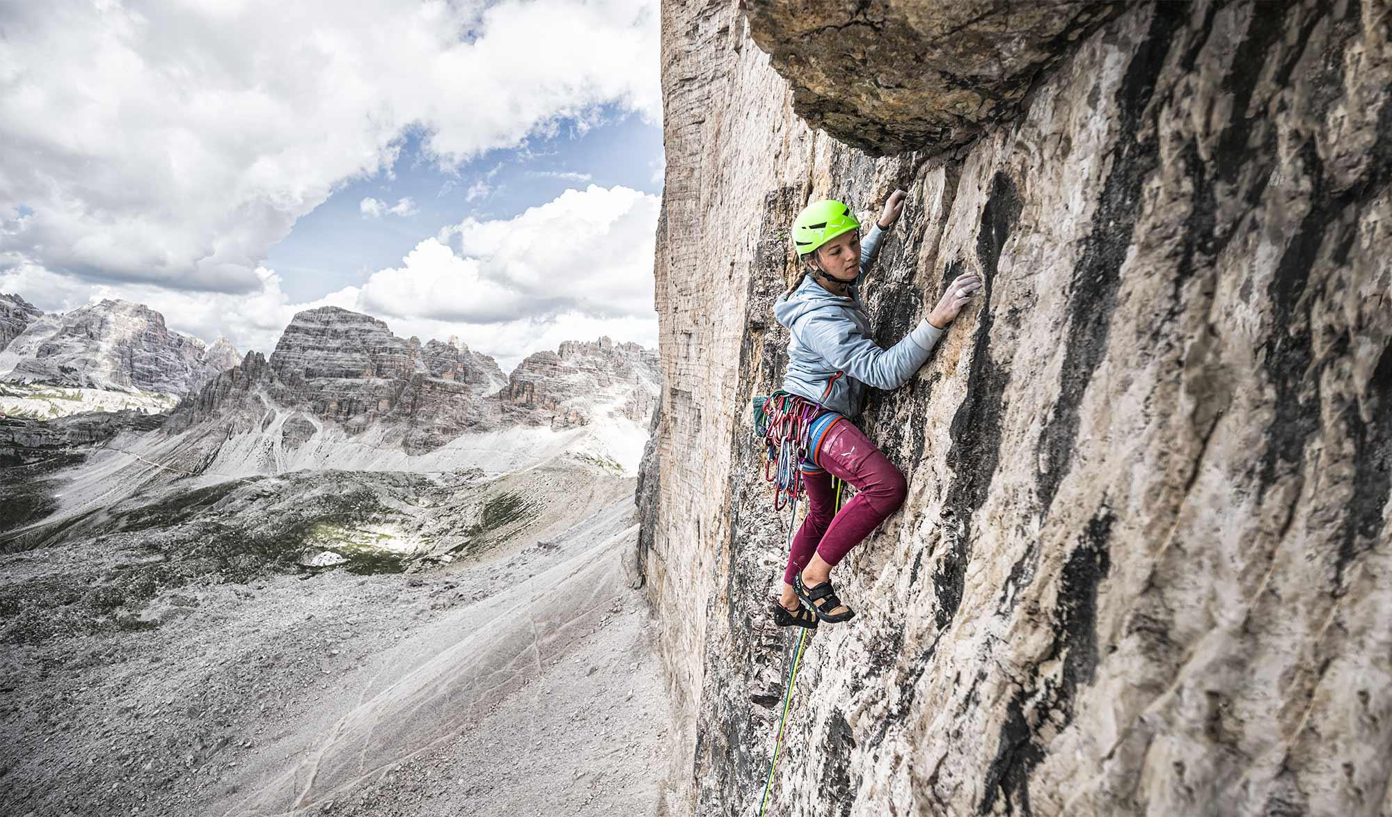 Eline Le Menestrel dans les Dolomites