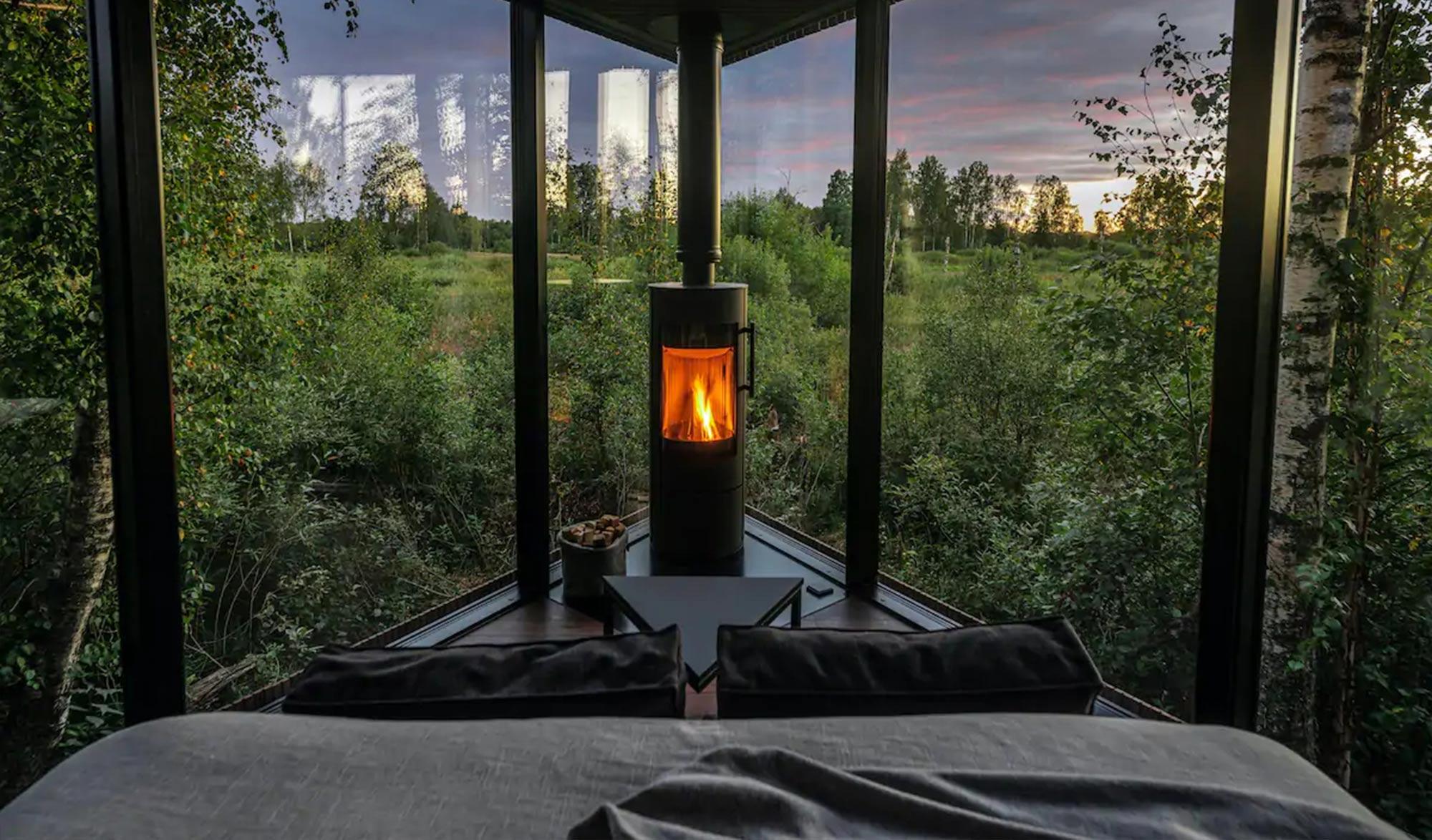 cabane de luxe dans les bois