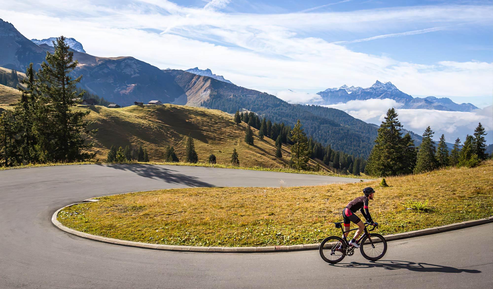 Challenge Strava Col de La Croix en Suisse