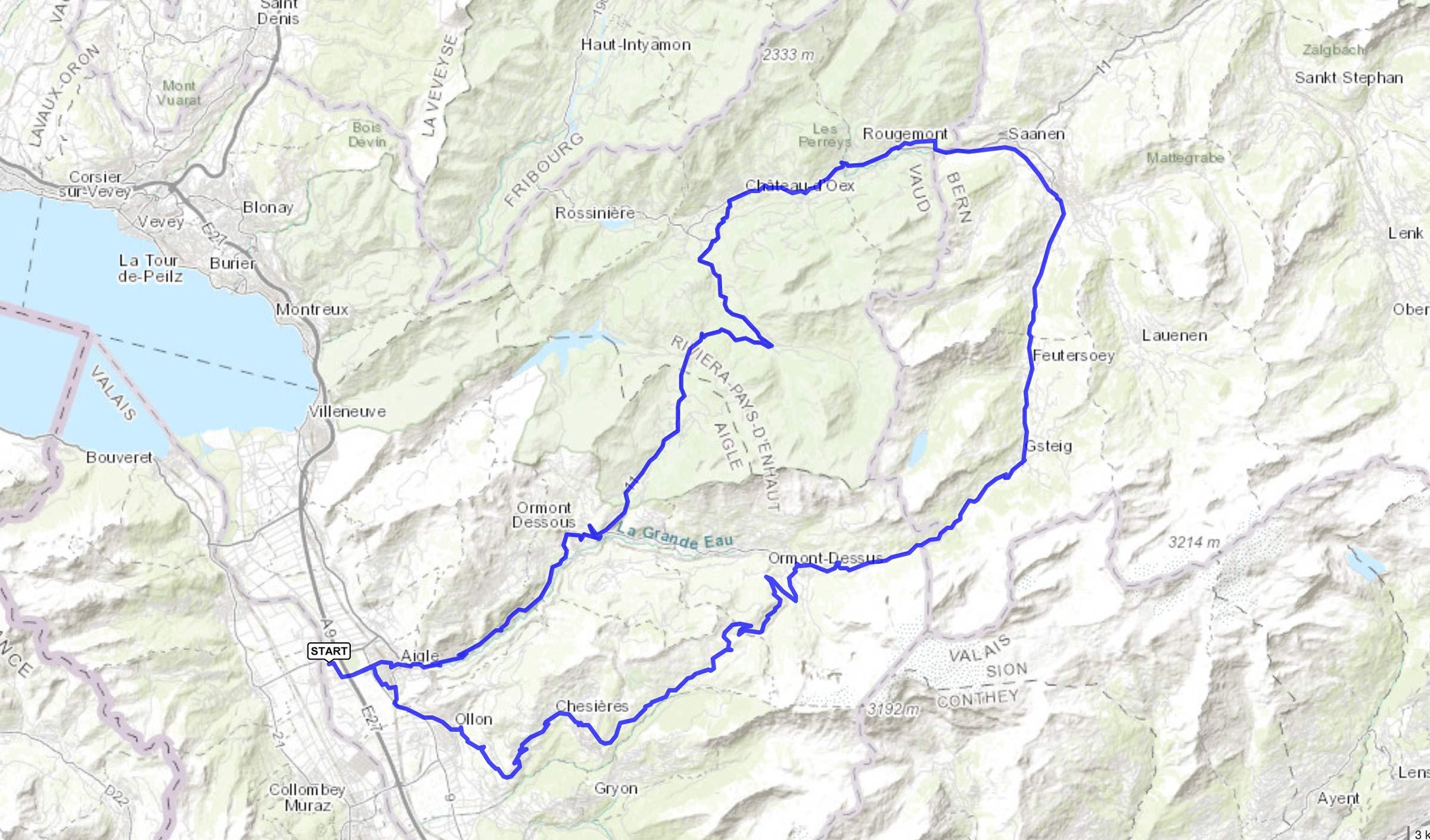 cyclisme : trace de la classique des Alpes Vaudoises