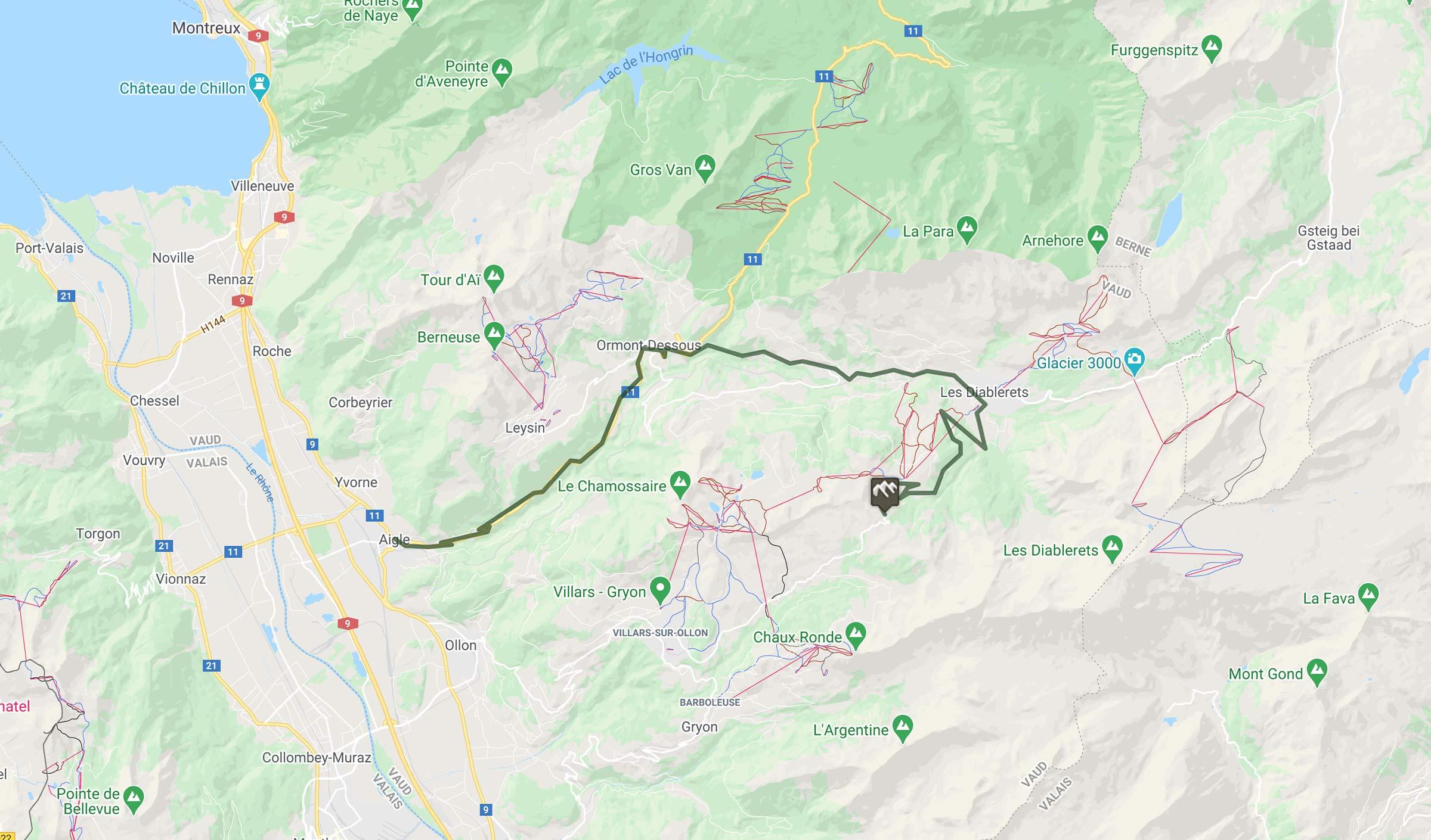 Cyclisme : trace du col de La Croix en Suisse