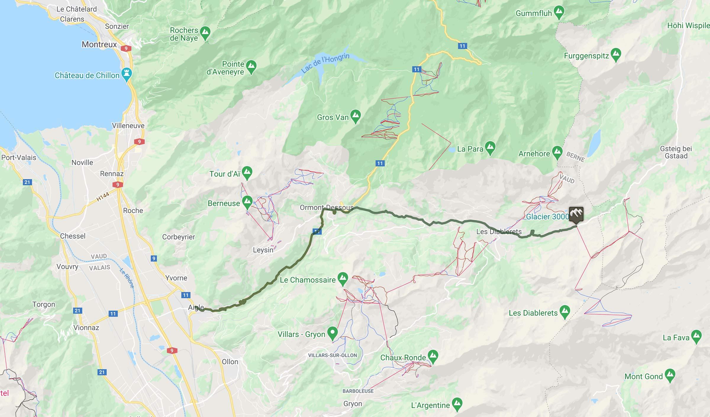 Cyclisme : trace du col du Pillon en Suisse