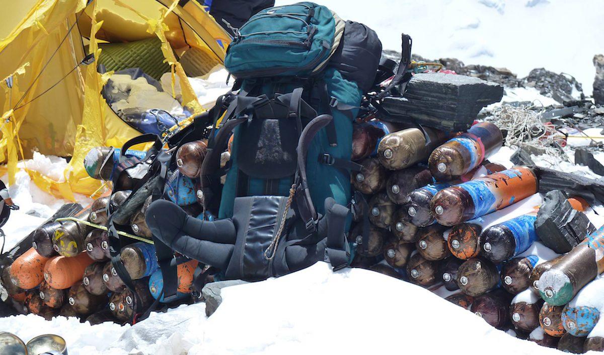 Bouteilles d'oxygène Everest
