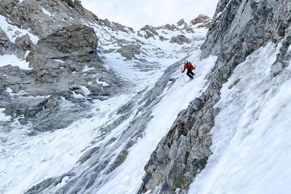 Paul Bonhomme en ski de pente raide