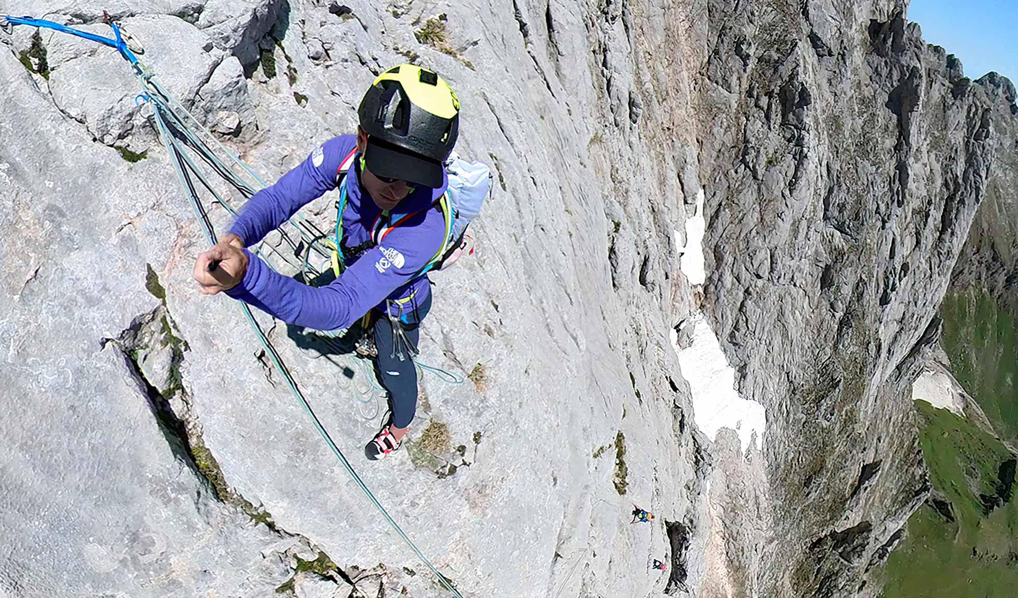 David Göttler grimpe le Pico de Europa avec son père de 81 ans