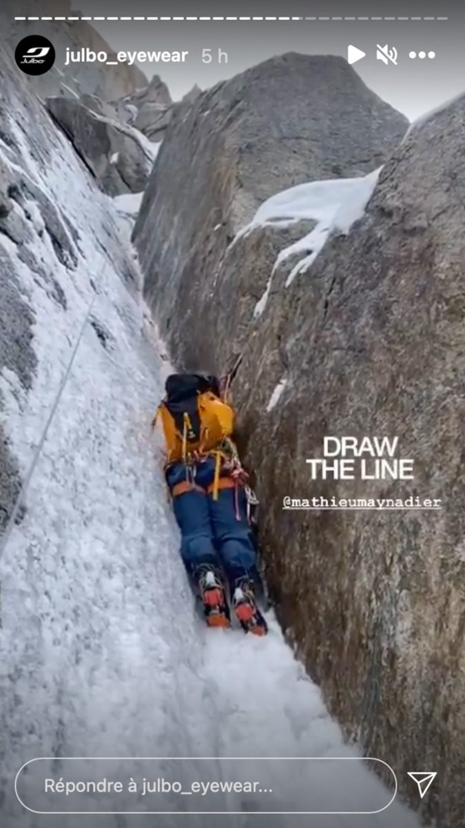 Story Instagram Draw the line