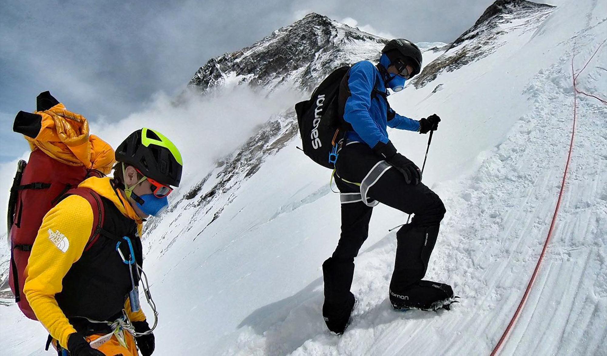 Kilian Kornet et David Göttler sur l'Everest